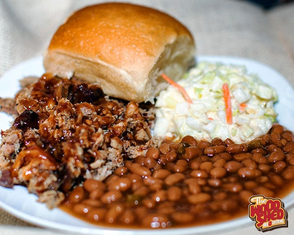 Wood Shed BBQ In Whitehall: Pulled Pork Plate